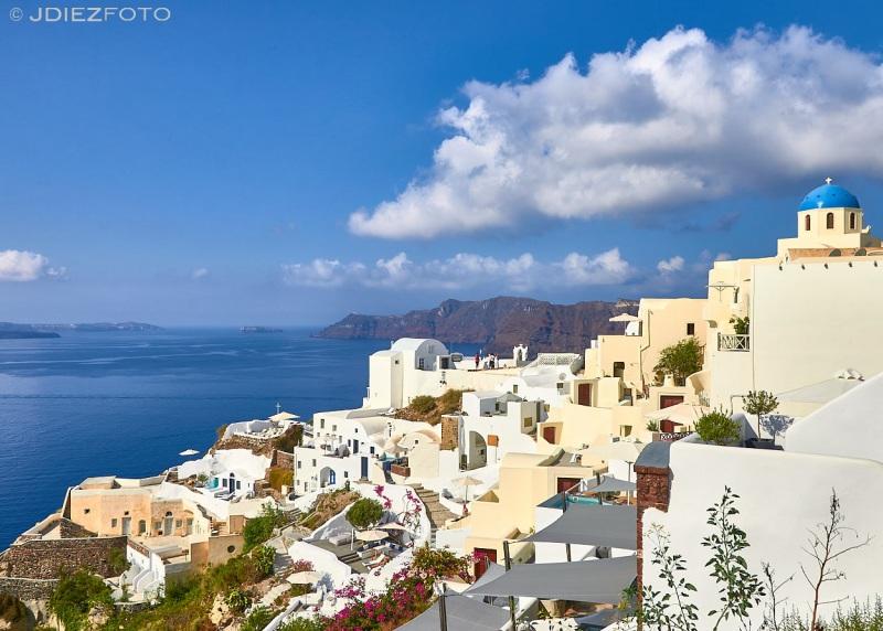 Santorini Blue Domes en Oia
