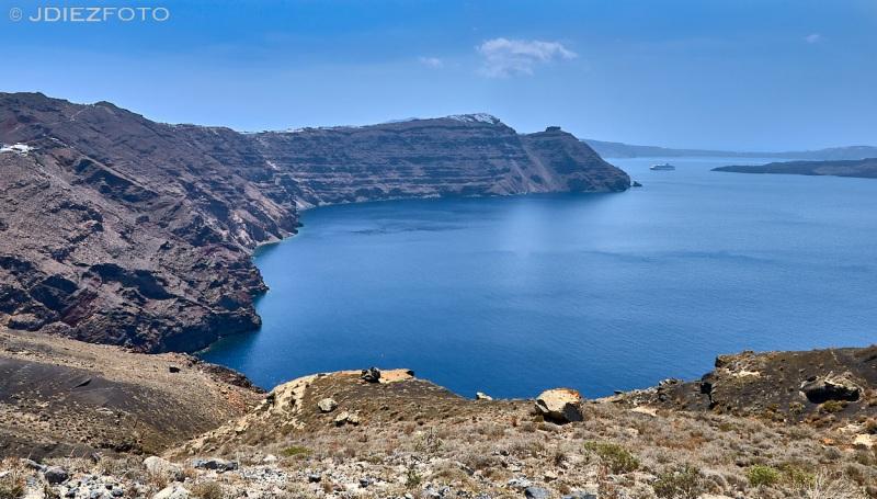 Ruta Imerovigili - Oia por los acantilados de la caldera de Santorini