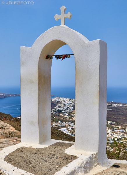 Vistas de Oia desde la Iglesia de Panagia