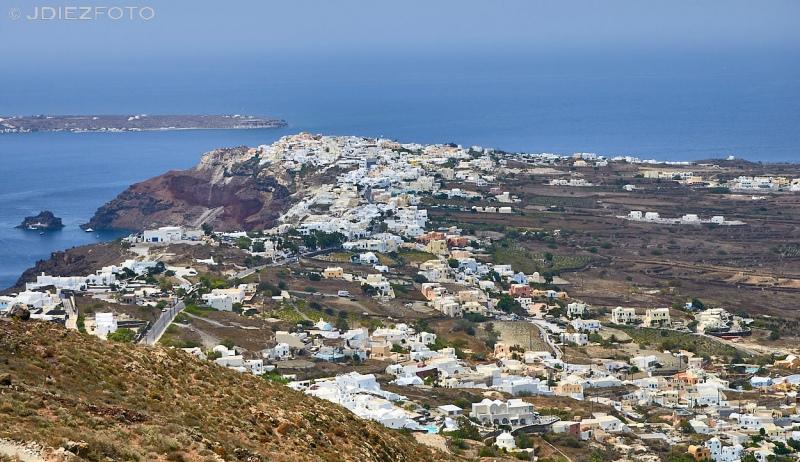 Vistas de Oia en Santorini