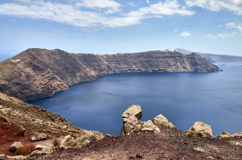 Paisajes desde Oia en Santorini