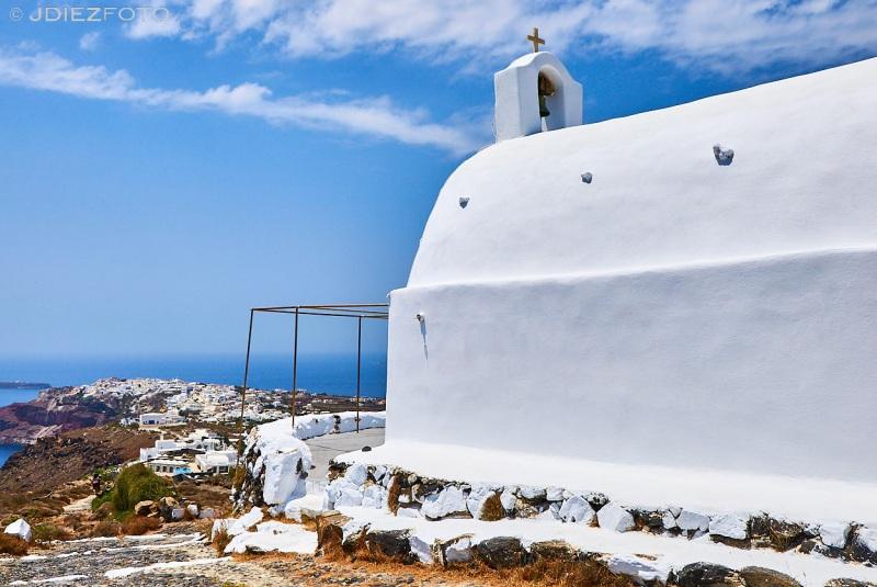 Vistas de Oia desde la Iglesia Ortodoxa de Panagia