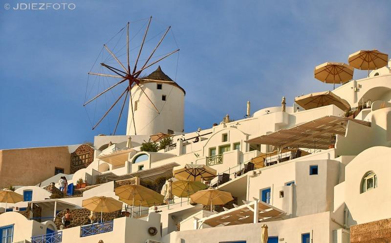 Hora dorada en Oia Santorini