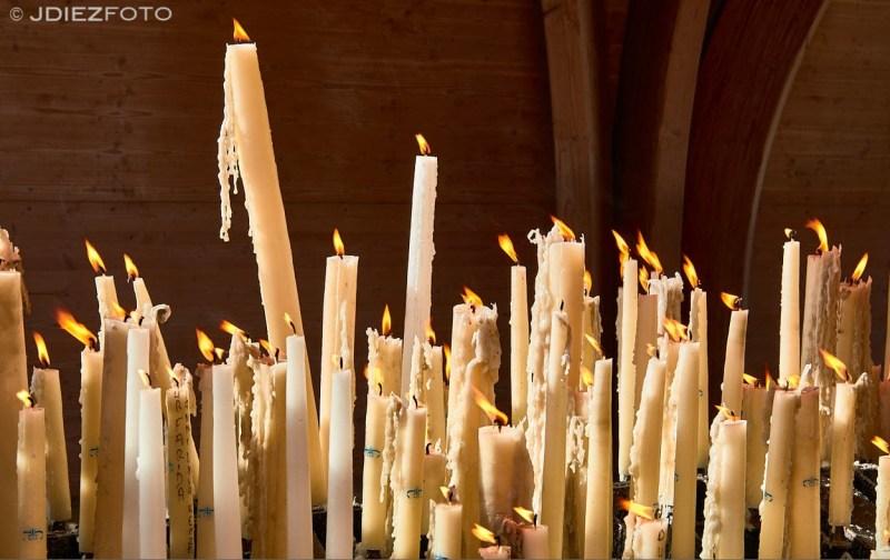 Velas del Santuario de Lourdes