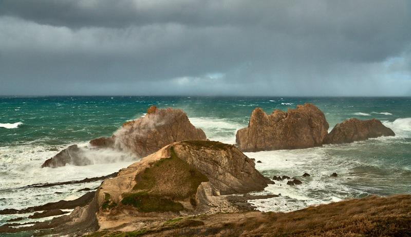 Temporal de mar Playa de la Arnia