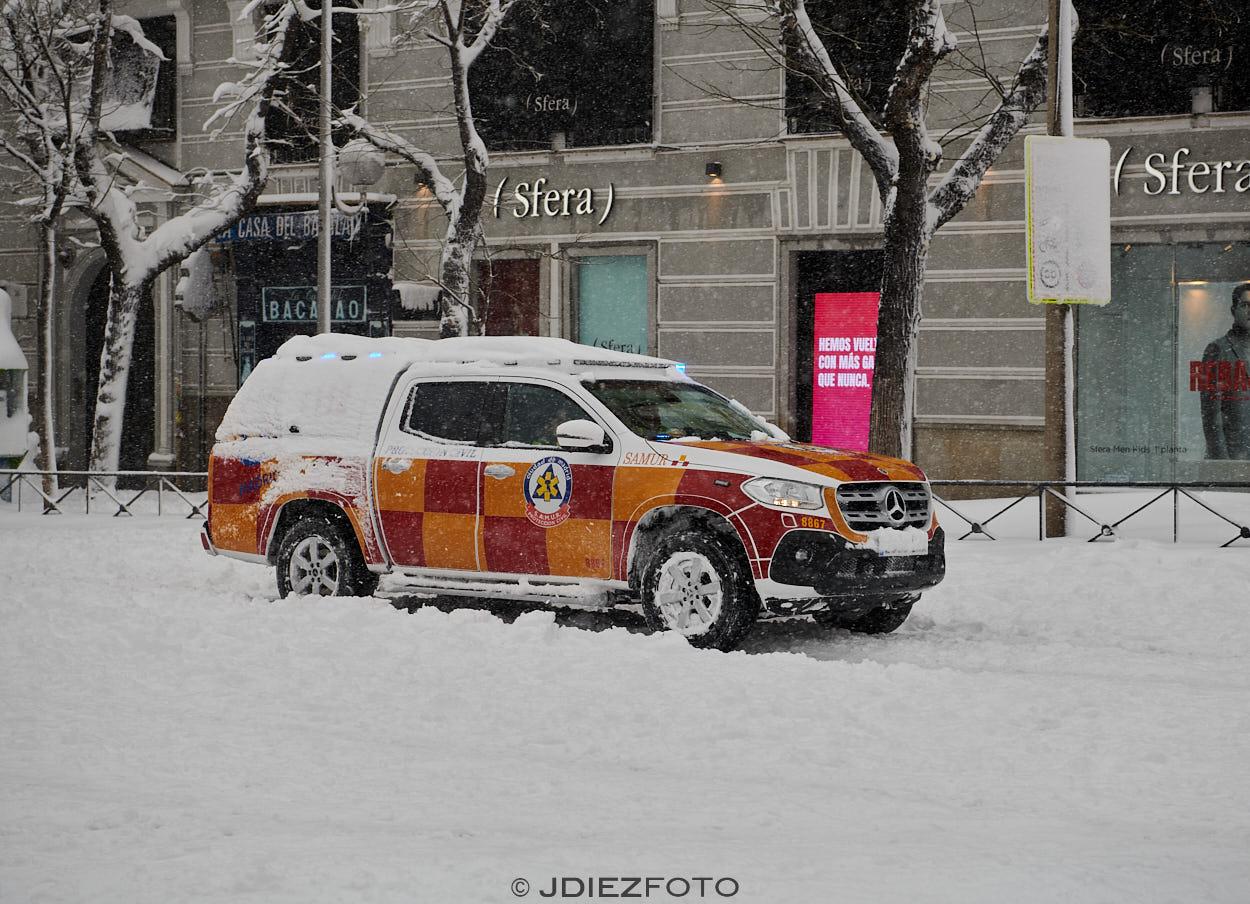 Servicios de Emergencia en el temporal de Filomena