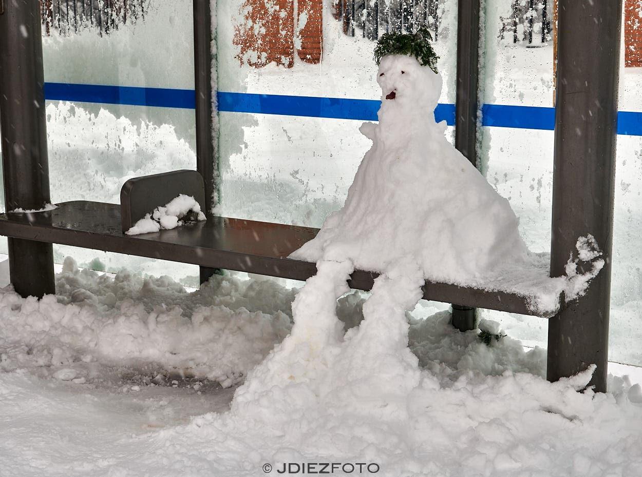 Escenas de Madrid por la nevada