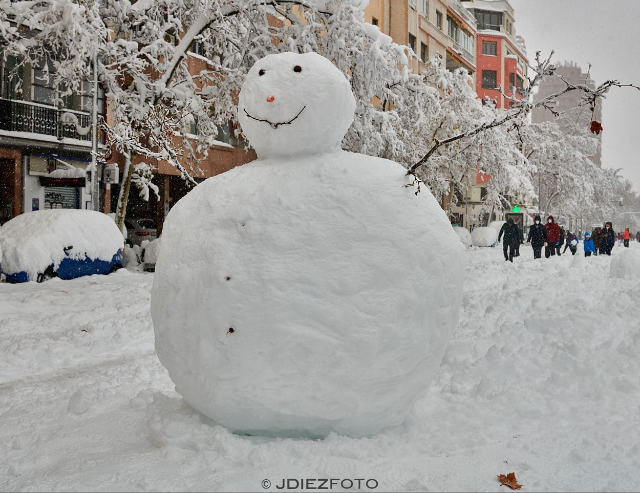 Arte en la nieve de Madrid