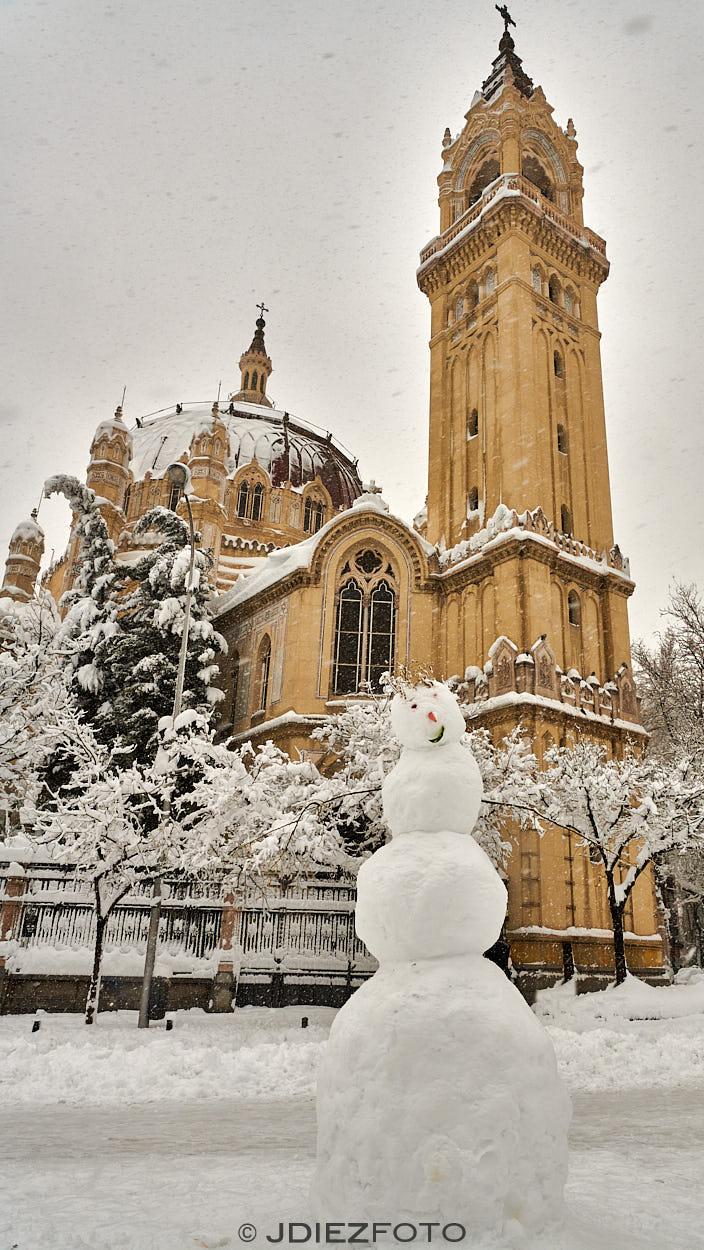 Parroquia San Manuel y San Benito nevada