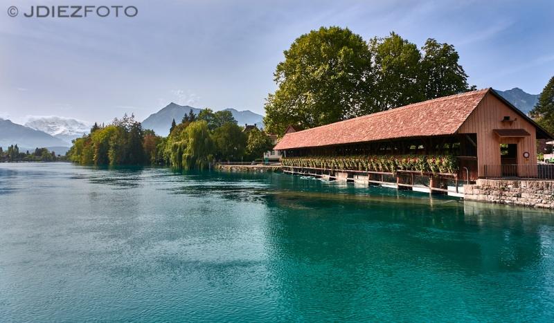 Río Aar hacia el Lago Thun