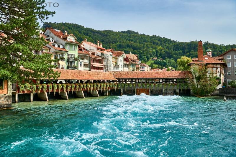 Presas del río Aar en Thun