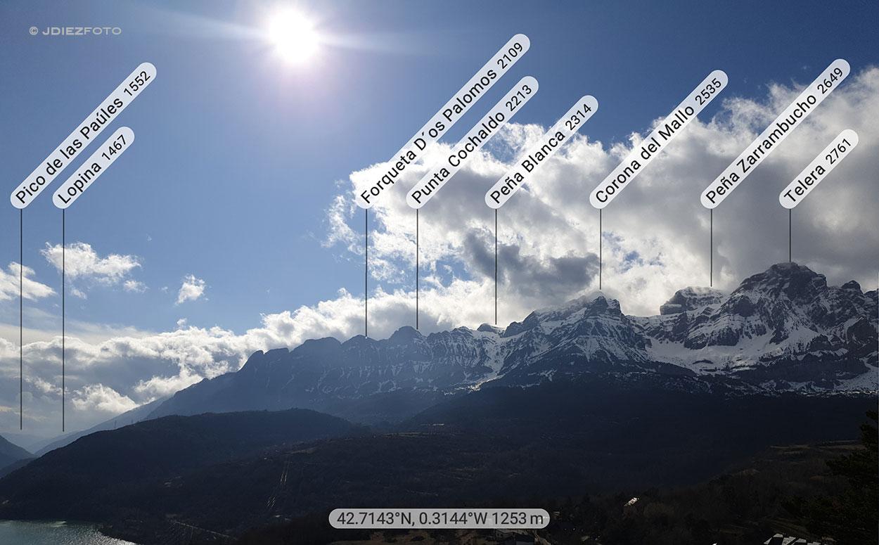 Peak Finder Mirador Sta. María en Tramacastilla. Sierra de Partacua