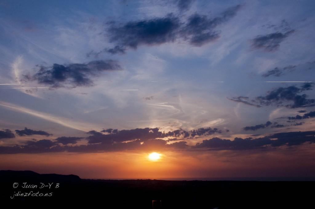 Puesta de sol desde peñacastillo