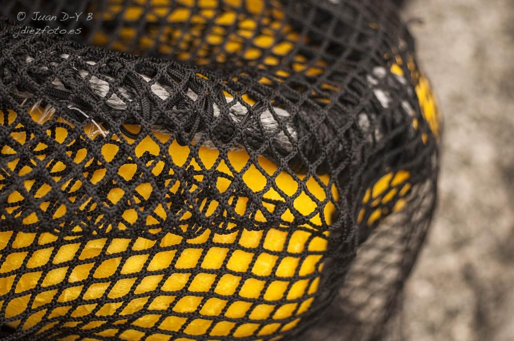 Redes de Pesca en el Barrio Pesquero de Santander