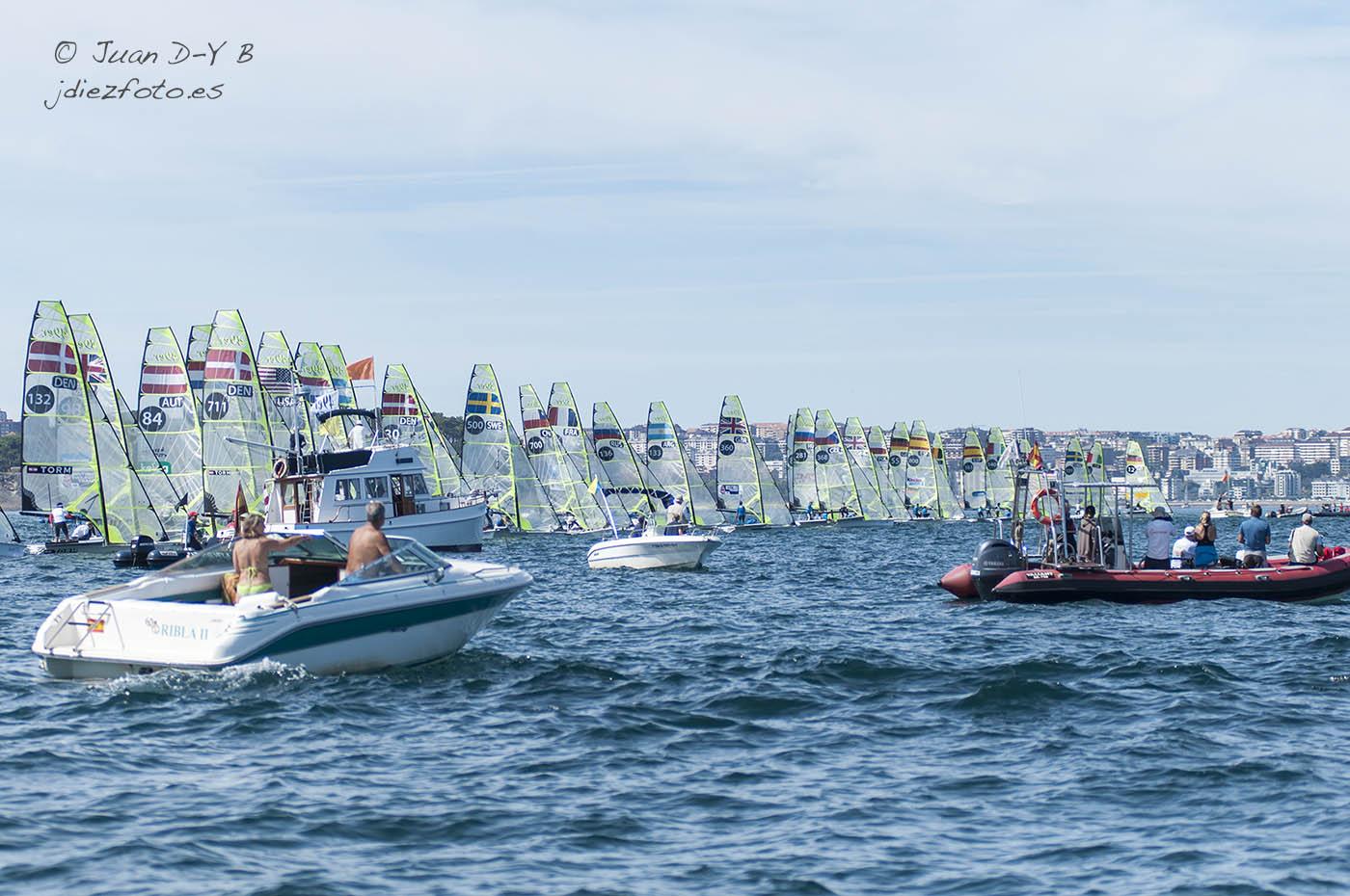 Cuarta jornada de regatas del Mundial de Vela 2014