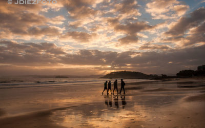 La Península de la Magdalena amanece con los primeros rayos del sol