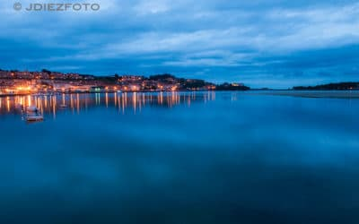 Anochecer en la Ría de San Vicente de la Barquera