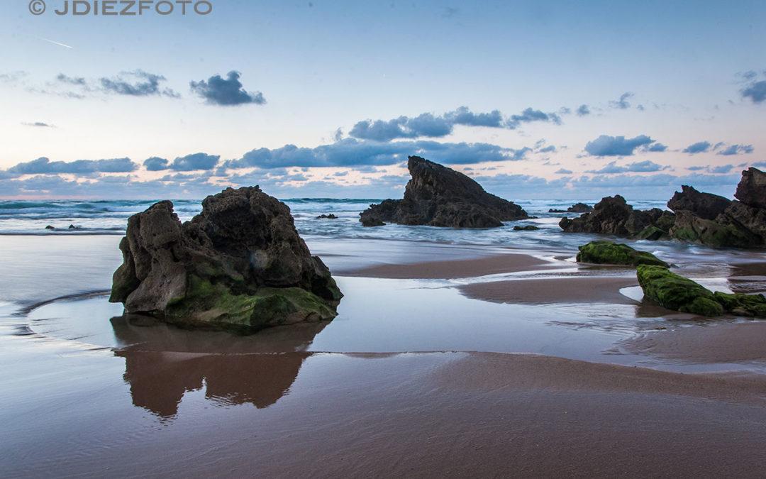 Hora azul en la Playa de Valdearenas