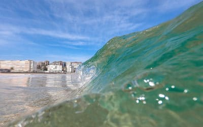 Bailando con las olas en el Sardinero