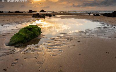 Atardecer a orillas de la Playa de Canallave