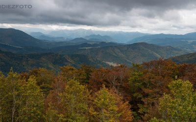 El otoño desde el mirador de Pikatua. Selva de Irati