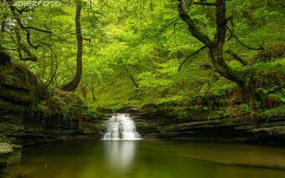 Recorriendo las Cascadas del arroyo Viaña