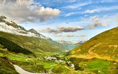 Paisajes de los Alpes Suizos desde Hospental