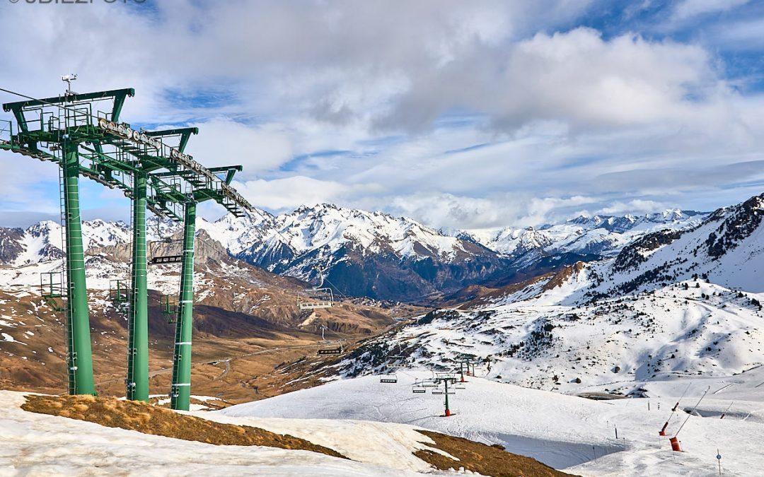 Paisajes en la estación de esqui de Formigal