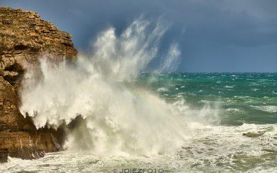 Costa de Cantabria durante el temporal de mar