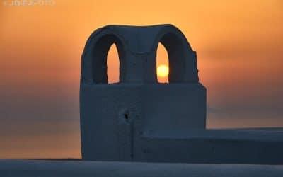Puestas de sol entre Imerovigli y Fira. Santorini