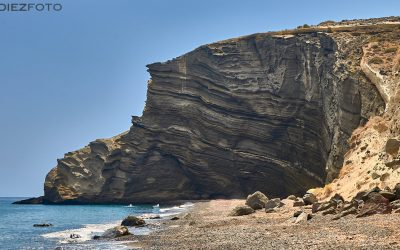 Playa de Cabo Kolumbo en Santorini
