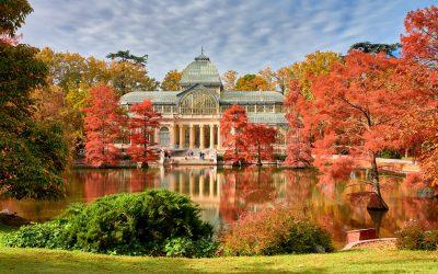 Otoño en el Palacio de Cristal del Parque del Retiro