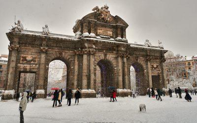 La borrasca Filomena nos deja singulares estampas para el recuerdo en Madrid